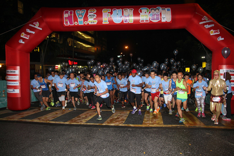 Close to 2,000 runners participated in NYE Fund Run, as part of the MDCC Flood Relief Project