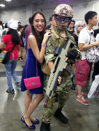 Irwin Woon cosplays as Special Operations Forces soldier meets up with his fan Hadhira