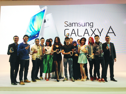 Samsung officially launched its latest Galaxy A Series smartphone in Kuala Lumpur on Jan 8, 2015