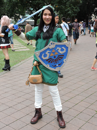 Zara Nadhirah cosplaying as Link -  Legend of Zelda