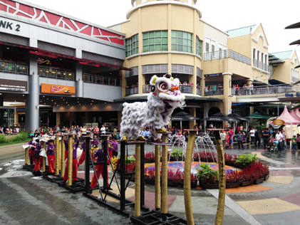 eCurve gives patrons a chance to experience acrobatic Lion Dance performance on high poles