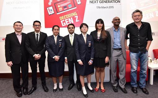At the Decoding Gen Z Event (L-R) Patrick Ng, Ahmad Mustaqim bin Nordin, Jacinta Jea Ling, Rohit Sharma, Moh Shu Jenn, Ruby Wong Chui Yee, Roshan Thiran and Pete Teo