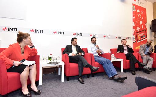 Discussion on the Gen Z Survey Findings (L-R) Freda Liu (Moderator), Rohit Sharma (INTI), Sajith Sivanandan (Google Malaysia), Patrick Ng (PwC Malaysia) and  Roshan Thiran (Leaderonomics)