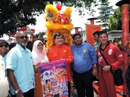 (L-R) Subang MP R Sivarasa, Haniza Mohd Talha, Hee Loy Sian and Rajiv Rishyakaran