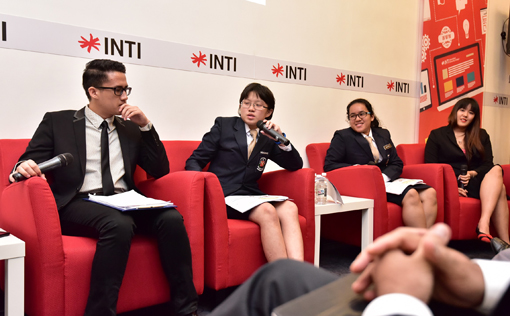 The Gen Z Students Panel Discussion (L-R) Ahmad Mustaqim bin Nordin, Moh Shu Jenn, Jacinta Jea Ling, Ruby Wong Chui Yee