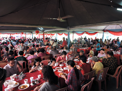 The crowd at the Petaling Jaya Selatan CNY 2015 open house