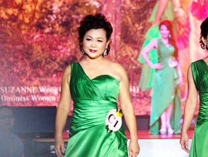Mrs Malaysia Asia International 2015 oldest finalist Suzanne Wong Ching Biae, aged 61