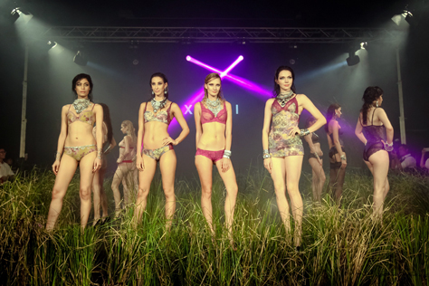 Models present  exotic lingerie pieces at Xixili Night Walks 2015 lingerie fashion show