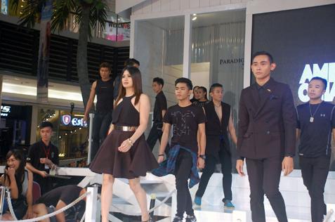 Graduating students walk down the runway during Amber Chia Academy Graduation Show 2015 on June 4, 2015 at Paradigm Mall, Petaling Jaya