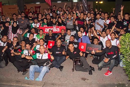Aprilia Malaysia Group Photo