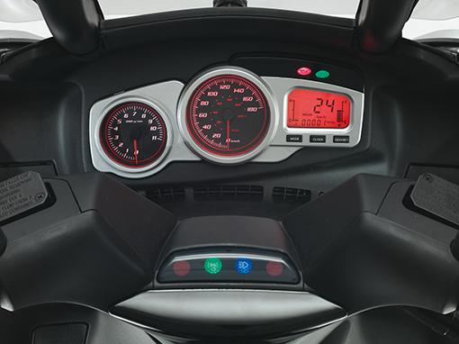 Aprilia SR Max dashboard