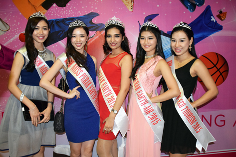 From left - Dior Lam, Hayley Yap, Kajel, Emily Lee and Summer Lau