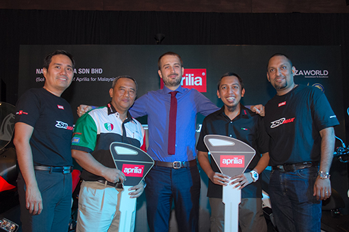 Key Handover Ceremony to the new owners of Aprilia SR Max 300