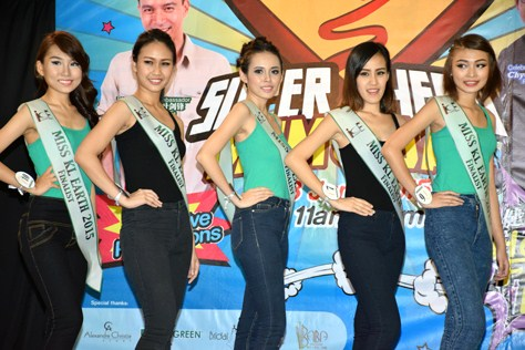 Miss KL Earth 2015 hopefuls (L-R) Anne Lim, Janice Tan, Mico Oon, Katherine Lau and Yoyo Lee