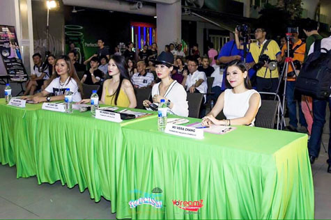 Miss Wilayah Tourism 2015 Talent Night beauty queen judges (L-R) Ivlyn Tan, Zoee Tan, Penny Soon and Vera Chang.