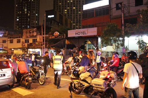 Several youths were initially arrested near a food outlet behind the Berjaya Times Square at 3.30am