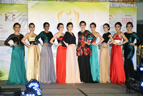 The Miss KL Earth 2015 finalists in their evening gowns