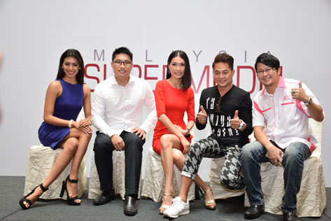 Amber Chia (centre) leads the panel of judges in the audition