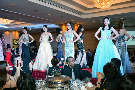 Elegant wear by Miss Malaysia World 2015 finalists sponsored by Tatiana Boutique