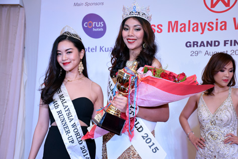 Miss Malaysia World 2015 4th Runner Up Natasha Aprillia JS Benggon (right)