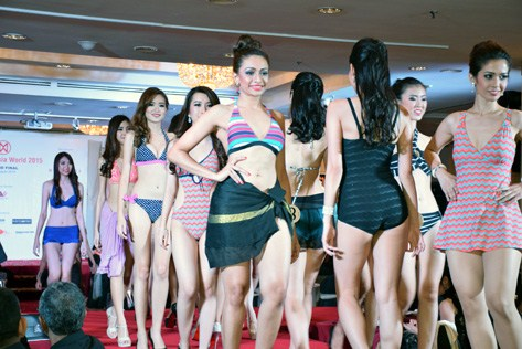 Swimwear by Miss Malaysia World 2015