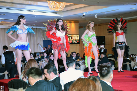 Wacoal lingerie fashion show by models