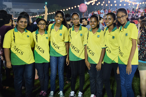 Abirami and her friends from MGS Klang at Bon Odori 2015 Shah Alam