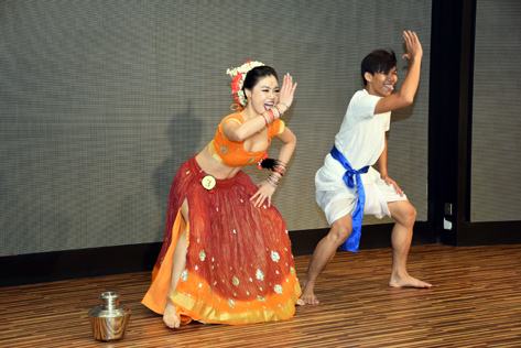 Audrey Lee performing an Indian dance which won her the Best Performance Award