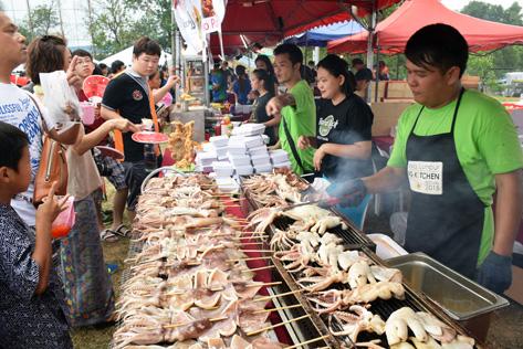 BBQ squid at Bon Odori 2015 in Shah Alam