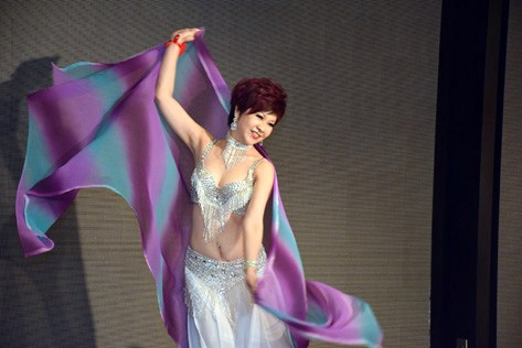 Catherine Tan with  her belly dance