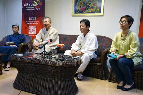 (L-R) Takuji Harada, Dr. Makio Miyagawa, Toshihiko Todokoro and Elizabeth Wong at Bon Odori 2015 press conference