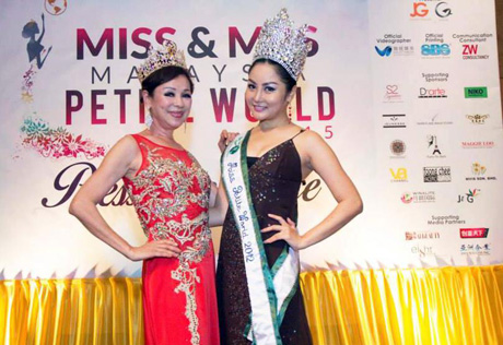 Madam Lim with Miss Petite World 2012 Irene Tan