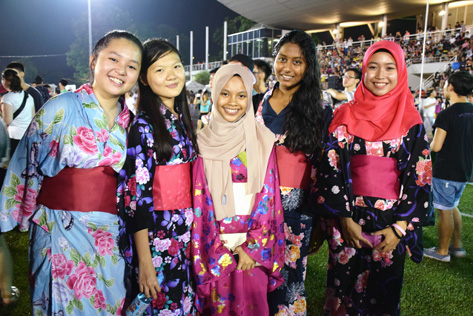 Malaysians dressed up in Yukata to experience Japanese culture