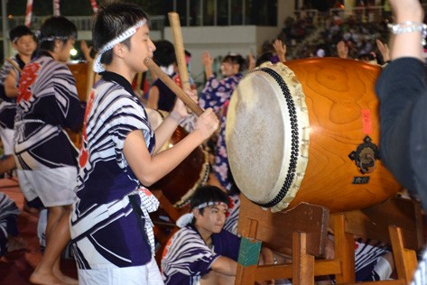 Taiko drummers perform at the 39th Bon Odori Festival in Shah Alam