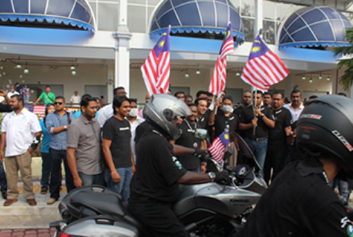 The event was was flagged off by MIC president Datuk Seri S. Subramaniam