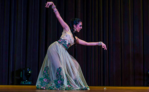 20 year old Kalnish Schubert performing Bollywood dance at World Bachata Festival 2015 (Photo courtesy of Gomagan)