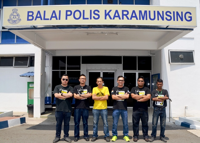 SORAK group photo at karamunsing police station