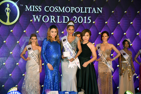 Miss Cosmopolitan World 2015 2nd runner-up Kohinoor Kaur from Malaysia