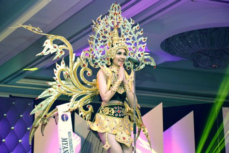 Miss Cosmopolitan World 2015 Best National Costume May Nandar Kyaw (‎Myanmar‬)