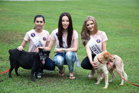 Miss Cosmopolitan World 2015 finalists May Nandar Kyaw (Myanmar), Monique Song (Korea) and Rachel Adele (New Zealand)