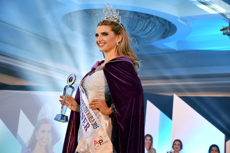 Miss Cosmopolitan World 2015 winner Rachel Harradence of New Zealand