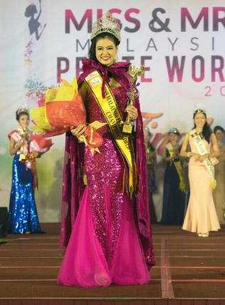 Miss Malaysia Petite World 2015 winner Audrey Lee