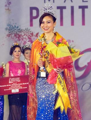 Mrs Malaysia Petite World 2015 winner Cecelia Lee