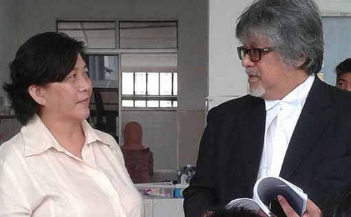 Jannie Lasimbang with her counsel Ram Singh