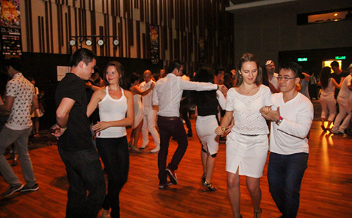 Participants enjoyed at the social dance after the party (Photo courtesy of Gomagan)