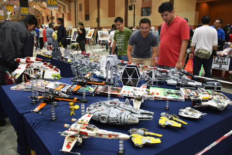 Booths selling Star Wars Lego collections