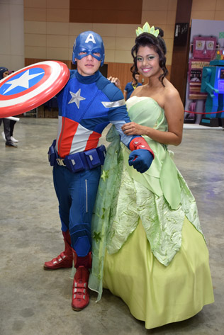 Captain America and Princess Tiana