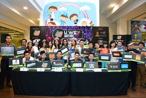 Group photo at U We Glow Fun Run 2015 Press Launch