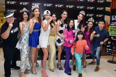 Reay to Glow Run (L-R) Brian Lee, Adelina Chen, Melinda Lee, Parisz, Irene Wong, Amber Chia, Crystal Lee, Lavence Lim, Catherine Cheah and Steve Woon. In the front is 8-year-old Amelia Lee