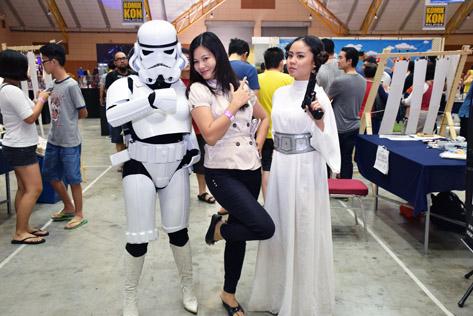 Storm Trooper and Princess Leia